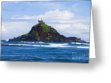 Alau Islet, Fisherman Greeting Card