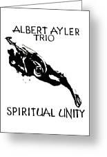 Albert Ayler Trio Greeting Card