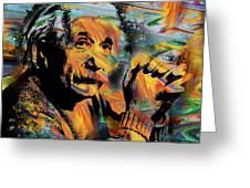Albert Einstein - By Prar Greeting Card