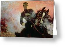 Albert I King Of The Belgians In The First World War Greeting Card by Ilya Efimovich Repin