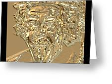 Albert Sticks Out His Tongue 24 Kt Gold 4  Greeting Card