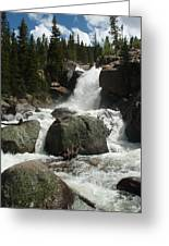 Alberta Falls Rmnp Greeting Card
