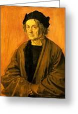 Albrecht Durer Father 1497 Greeting Card
