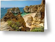 Albufeira Cove Greeting Card