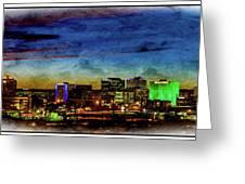 Albuquerque New Mexico Skyline Greeting Card