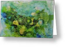 Alcohol Ink 1 Greeting Card by Kate Word