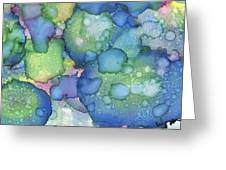Alcohol Ink #2 Greeting Card