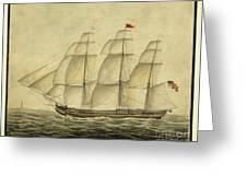 Alcono Sailing Vessel Greeting Card