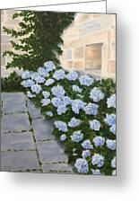 Courtyard At Condes De Albarie Greeting Card
