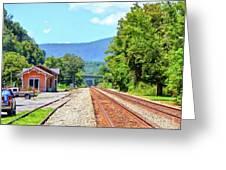 Alderson Train Depot And Tracks Alderson West Virginia Greeting Card