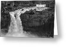 Aldeyjarfoss Waterfall Iceland 3353 Greeting Card