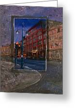 Ale House And Street Lamp Greeting Card