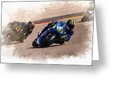 Aleix Espargaro Team Suzuki Ecstar Greeting Card