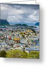 Alesund Norway Cityscape Greeting Card