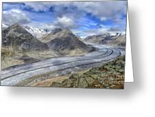 Aletsch Glacier, Switzerland Greeting Card