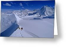 Alex Lowe On Mount Bearskin 2850 M Greeting Card by Gordon Wiltsie