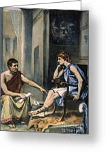 Alexander & Aristotle Greeting Card