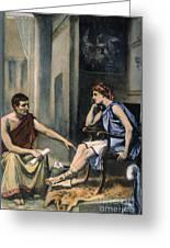 Alexander & Aristotle Greeting Card by Granger