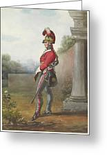 Alexander Ivanovitch Sauerweid 1783-1844 British Army. Private, Life Guards. About 1816 Greeting Card