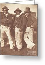 Alexander Rutherford, William Ramsay And John Linton Greeting Card