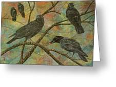 Alex's Crows Greeting Card