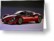 Alfa Romeo 33 Stradale 1967 Painting Greeting Card