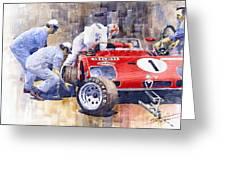 Alfa Romeo 33tt3 Targa Floria 1972 Vaccarella Stommelen Greeting Card