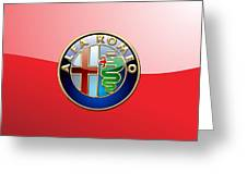 Alfa Romeo - 3d Badge On Red Greeting Card