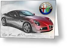 Alfa Romeo 8c Competizione  Greeting Card