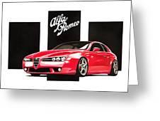 Alfa Romeo Brera Greeting Card