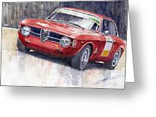 Alfa Romeo Giulie Sprint Gt 1966 Greeting Card