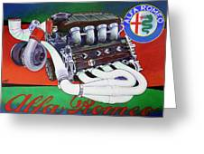 Alfa Romeo Indy Engine Greeting Card