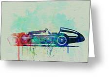 Alfa Romeo Tipo Watercolor Greeting Card by Naxart Studio