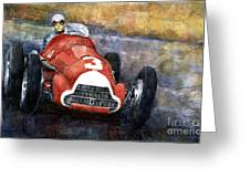 Alfa Romeo158 British Gp 1950 Luigi Fagioli Greeting Card