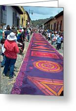Alfombra In Purples Greeting Card