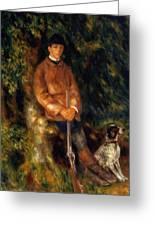 Alfred Berard And His Dog 1881 Greeting Card