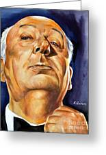 Alfred Hitchcock Greeting Card