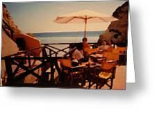 Algarve Beach Bar Greeting Card