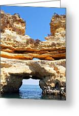 Algarve Rock Tunnel Greeting Card