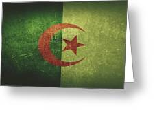 Algeria Distressed Flag Dehner Greeting Card