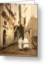Algeria: Street Scene, C1899 Greeting Card