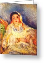 Algerian Woman Seated 1882 Greeting Card