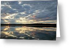 Algonquin Lake Sunset Greeting Card