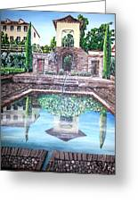 Alhambra Spain Reflections Greeting Card