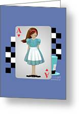 Alice 3d Flying Cards Greeting Card