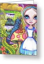 Alice And Absolem Greeting Card