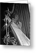 Alice Coltrane On Harp Greeting Card