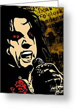 Alice Cooper Illustrated Greeting Card