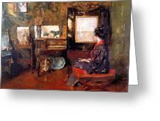 Alice In Studio In Shinnecock Greeting Card