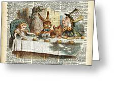 Alice Morning Tea Time Greeting Card